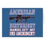 Derecho por nacimiento americano tarjeta