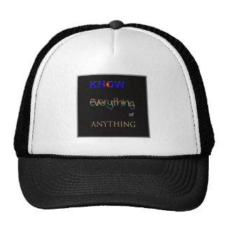 Derecho saber gorra