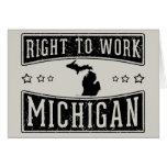 Derecho trabajar Michigan Felicitacion