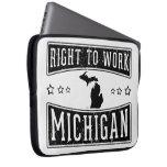 Derecho trabajar Michigan Mangas Portátiles