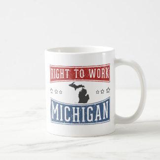 Derecho trabajar Michigan Taza De Café