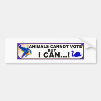 derechos al voto animales pegatina para auto