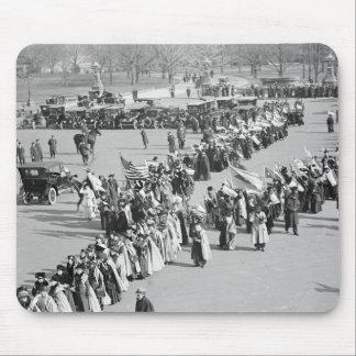 Derechos al voto marzo de 1916 alfombrilla de ratón