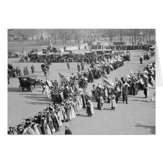 Derechos al voto marzo de 1916 felicitacion