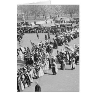 Derechos al voto marzo de 1916 tarjeta de felicitación