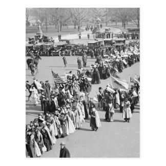 Derechos al voto marzo de 1916 tarjeta postal