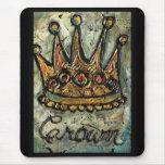 Derechos de la corona tapetes de ratón