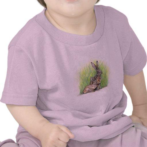 Derechos del conejo camisetas