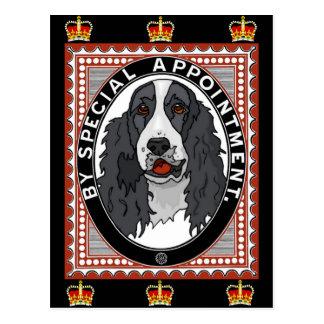 Derechos del perro de aguas de rey Charles Tarjetas Postales