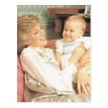 Derechos del vintage, Diana y príncipe Guillermo Tarjeta Postal