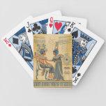 Derechos egipcios antiguos antiguos del vintage barajas de cartas