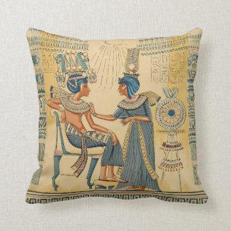 Derechos egipcios antiguos antiguos del vintage cojin