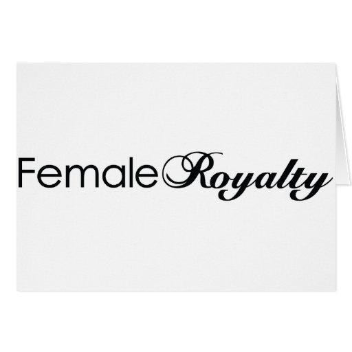 Derechos femeninos tarjeta
