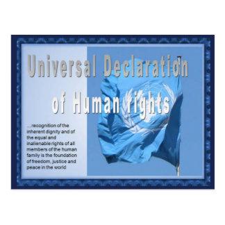Derechos humanos, estudios sociales, Declaratio un Postal