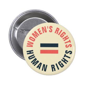 Derechos humanos iguales de las derechas de las pin redondo de 2 pulgadas