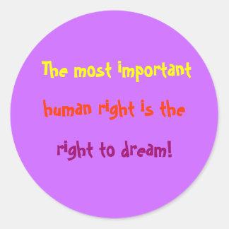 Derechos humanos importantes pegatina