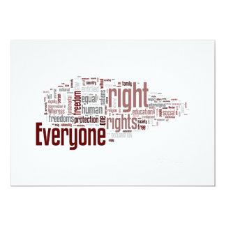 Derechos humanos comunicado