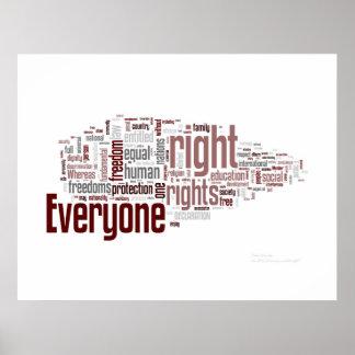 Derechos humanos poster
