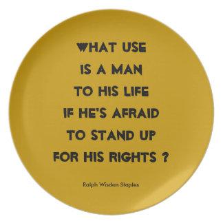 Derechos humanos platos de comidas