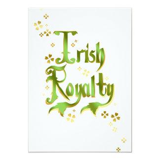 """Derechos irlandeses invitación 5"""" x 7"""""""