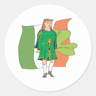 Derechos irlandeses etiqueta redonda