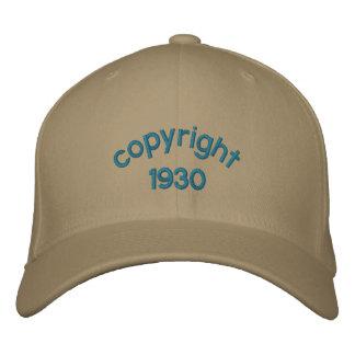 derechos reservados 1930 gorras de béisbol bordadas