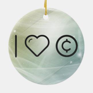 Derechos reservados frescos de la marca registrada adorno navideño redondo de cerámica