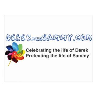Derek and Sammy Bumper Sticker Post Cards