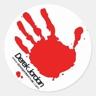 Derek Jordan Handprint Sticker