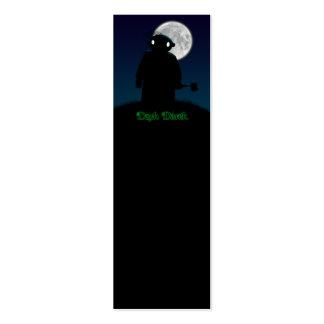 Derek oscuro - hacha tarjetas de visita mini