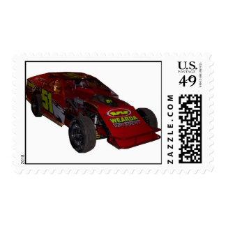 derek racecar-07 stamp