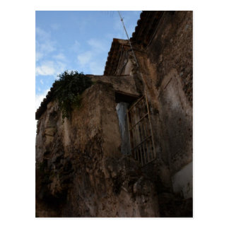 Derelict Ancient Houses Postcard