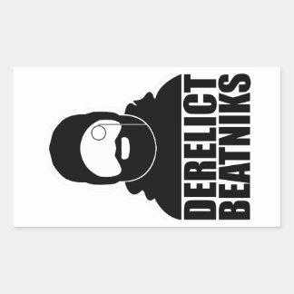 Derelict Beatniks Rectangular Sticker