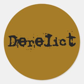 Derelict Classic Round Sticker