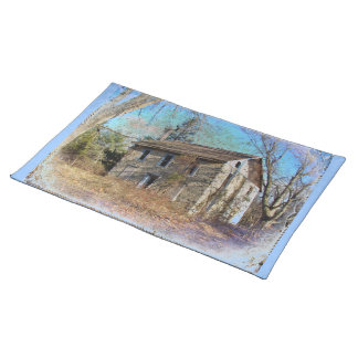Derelict Farmhouse on Upper Ridge Road Cloth Place Mat