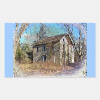 Derelict Farmhouse on Upper Ridge Road Rectangular Sticker