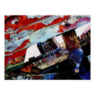 Derelict Fishing Boat Poster