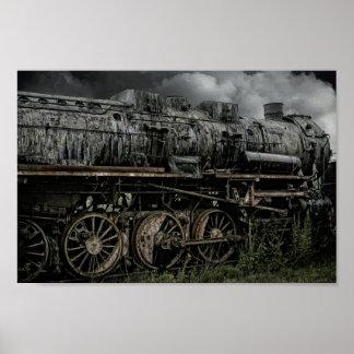 Derelict Locomotive Steam Train Poster