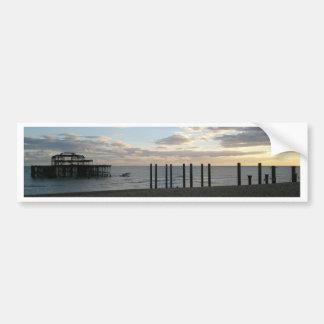 Derelict West Pier Brighton Bumper Sticker