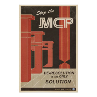 Deresolution is the only Solution Poster