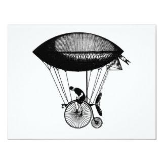 """Derigicyclist de Steampunk Invitación 4.25"""" X 5.5"""""""