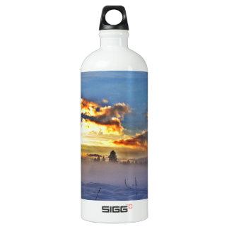 Deriva de la nieve botella de agua