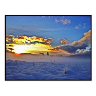 Deriva de la nieve postal