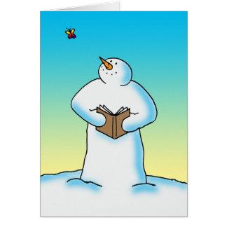 Deriva de la nieve tarjeta de felicitación