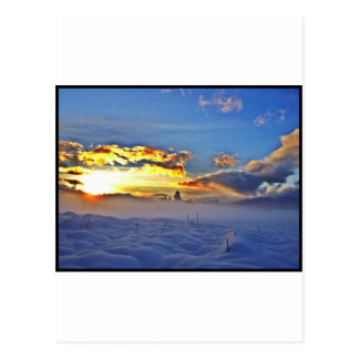 Deriva de la nieve tarjetas postales