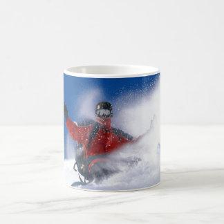 Deriva de la nieve taza de café