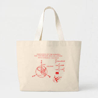 Derivation of the formula for the surface area… tote bag