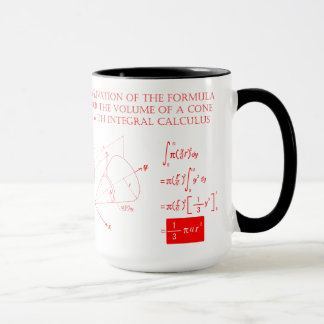 Derivation of the formula for the volume of a cone mug