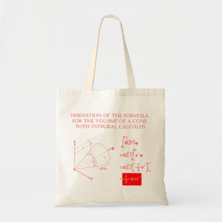 Derivation of the formula for the volume of a cone tote bag