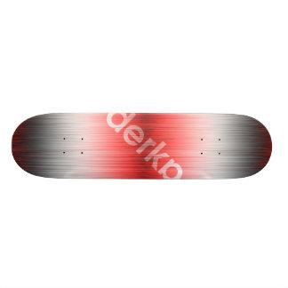 Derka Gradient Red White Black Skateboard Deck